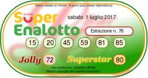 Superenalottodi sabato 01-07-2017 concorso n.77